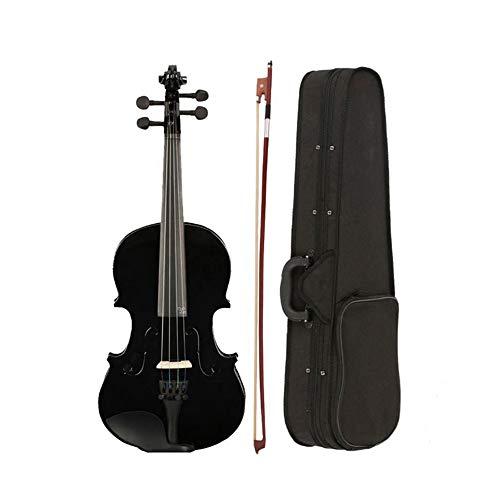 GNSDA 1/8 Classic massief houten akoestische viool startersset voor beginners, met koffer, boog, colofhonium, cadeau voor kinderen