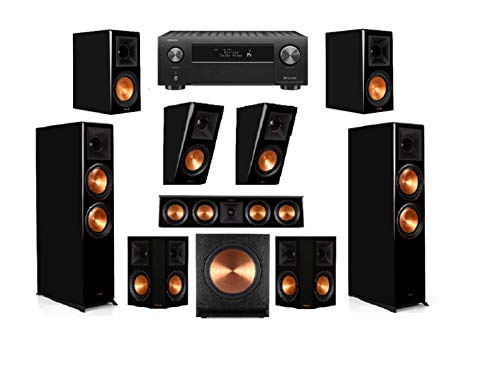 Learn More About Klipsch RP-8060FA Piano Black 7.1.2 Dolby Atmos Home Theater System with AVR-X4500H...