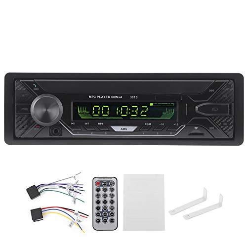 Fydun Car Stereo Receiver 12V USB Carga rápida Llamadas manos libres Multifunción Car Radio FM Reproductor de audio Bluetooth con retroiluminación de 7 colores