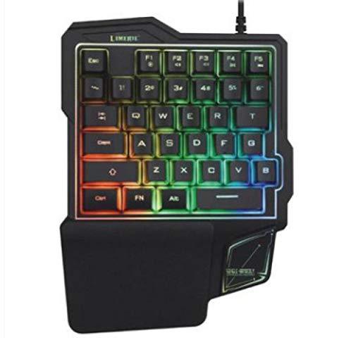 ZQJ Handyspiele-K103 Gaming-Tastatur mit Kabel, 35 Tasten, Einhand-Schalter