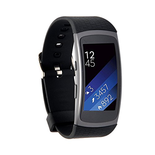 Moretek Classic Replacement Band for Samsung Gear Fit2 & Fit 2 Pro Tracker (Black)