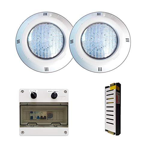 Warmpool Pack Focos LED Blanco Frío de 35W para Piscina + Armario...