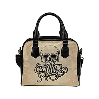 InterestPrint Skull With Octopus in a Tattoo Style Crossbody Purse Bags for Women Shoulder Bag