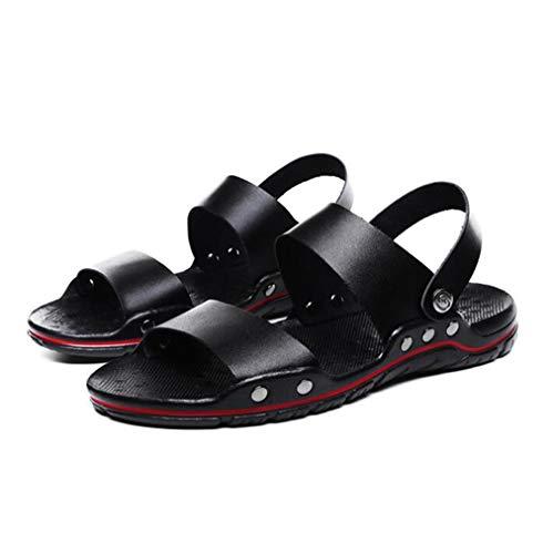 HRFHLHY Leren sandalen voor heren, casual zachte zolen, pantoffels