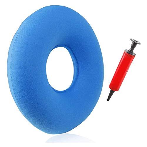 Losomly - Cojín ortopédico de hemorroides hinchable, ergonómico, con bombas ajustables, dureza para personas embarazadas y personas mayores