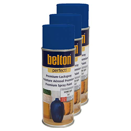 Kwasny 3X Belton Perfect Lackspray Lack Spray Spraylack Premiumlack Premiumlackspray Premium Perfect Dunkelblau 400 Ml