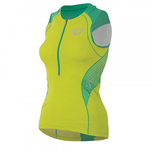 PEARL IZUMI Elite en de R De Cool Tri Mujer Triathlon Body Camiseta Verde 2015