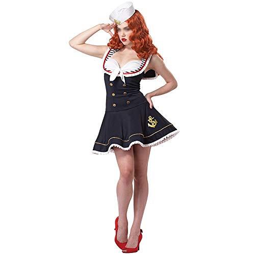 RJJX Home Modische Halloween-Kostüme, Herrlich und Festliche Halloween Kostüme Sexy Matrose Marine Kleid Uniformen Sexy Wasser Kostüm Halloween Komfortabel, voller Charme Halloween-Kostüme