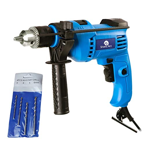 600W Electric Impact Drill Hammer Action Power Tool Variable Speed Masonry