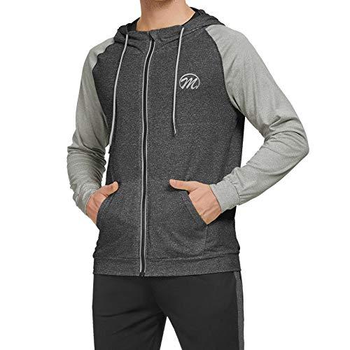 MEETWEE Sportjacke Herren, Trainingsjacke Langarm Laufjacke Atmungsaktiv Sport Jacket Langarmshirt Sweatjacke Joggingjacke für Männer