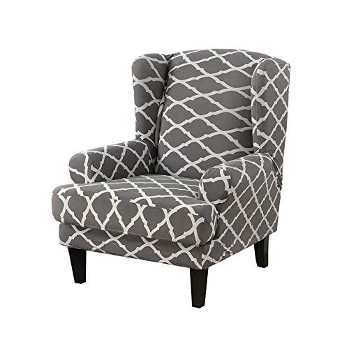 ZUQ Sesselbezug Elastisch, Ohrensessel Überzug Bedruckt, Sesselhusse Abnehmbare Sofa Bezüge Möbel Schutz, Dekorative Husse für Ohrensessel #5