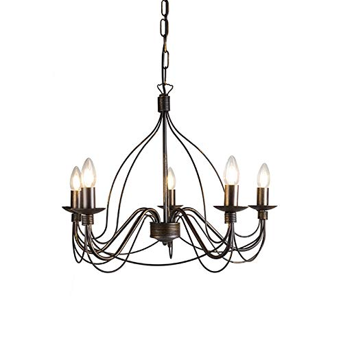 QAZQA Clásico/Antiguo Lámpara de araña clásica marrón