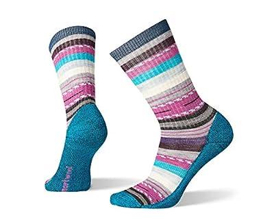 Smartwool Hiking Crew Socks - Women's Margarita, Lightly Cushioned Wool Performance Sock DEEP MARLIN Medium