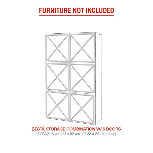 Moonwallstickers.com Ikea Besta Kits - Adecuado para muebles IKEA BESTA, pvc, PVC blanco de 5 mm., 6 DOORS – ALMADA