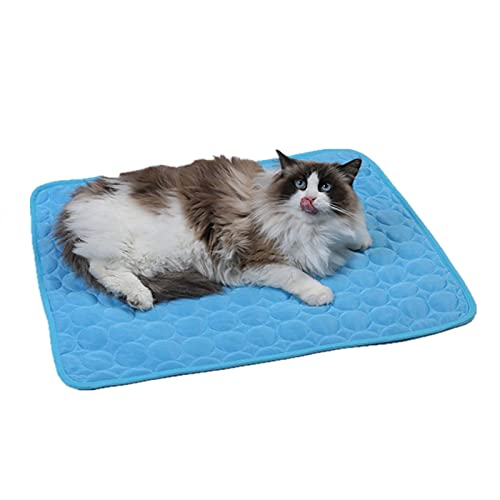 Alfombrillas de enfriamiento para mascotas - Alfombrilla autoenfriante para perros, gatos para evitar el sobrecalentamiento durante el descanso y el sueño - Almohadilla de seda de hielo para mantener
