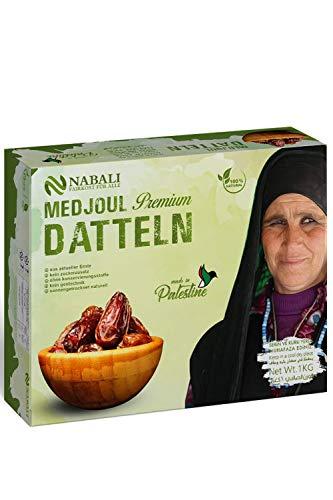 NABALI FAIRKOST FÜR ALLE Medjool Medjoul Datteln aus Palästina - 100{2f236a6ded3a4475ed0c55ae133e92fa983d2e26e18cd2417fb0ffbccd68e09a} naturell vegan aromatisch traditionell frisch & orientalisch I ohne Konservierungsstoffe (1)