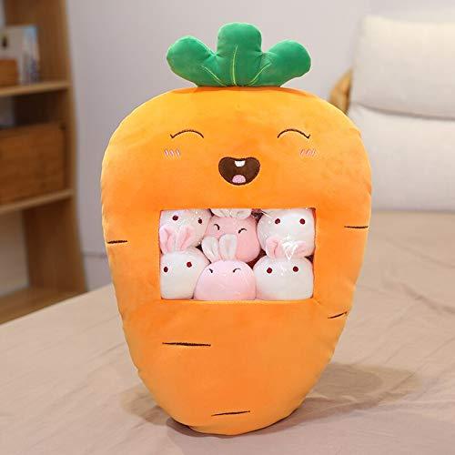 Dehcye 20-47cm una Bolsa de Juguete de Frutas Relleno Suave Almohada de Felpa Fresa Aguacate plátano Juguetes para niños cumpleaños niña 40x60cm