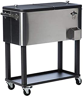 Trinity TXK-0806 Stainless Steel Cooler with Cover, 80 qt,