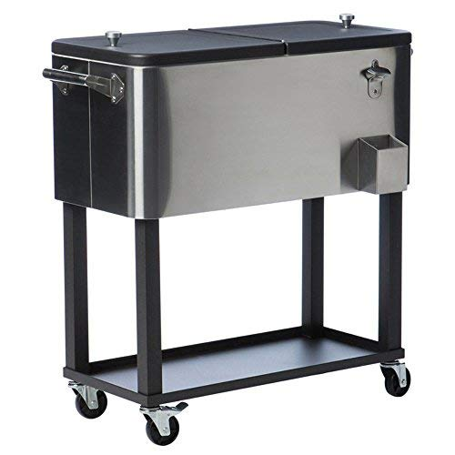 TRINITY TXK-0806 Stainless Steel Cooler with Cover, 80 qt