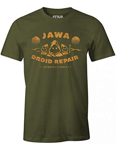 cotton division Meswclats014 T-Shirt, Cachi, XXL Uomo