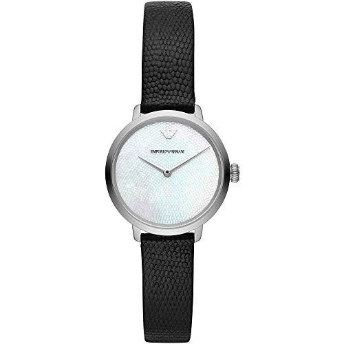 Emporio Armani Reloj Analógico para Mujer de Cuarzo con Correa en Cuero AR11159