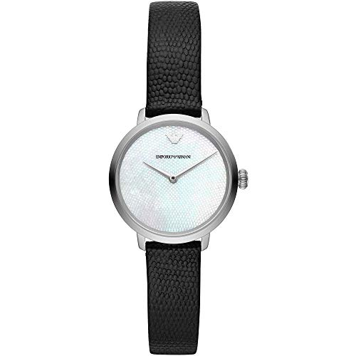 Emporio Armani Damen Analog Quarz Uhr mit Leder Armband AR11159