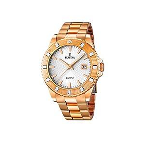 Festina 0 – Reloj de Cuarzo para Mujer, con Correa de Acero Inoxidable,