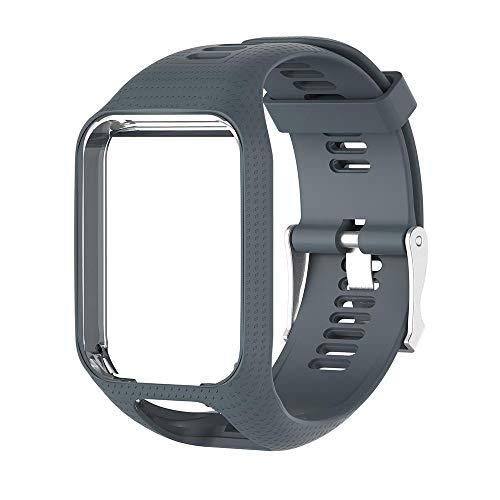 Womdee TomTom Horlogeband, vervangende riem voor TOMTOM Spark Runner, zachte siliconen TomTom Gel Horlogeband Sportarmband voor TomTom Runner 2/Runner 3/Spark 3/Adventurer/Golfer 2 Smartwatch