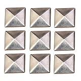 Healifty 100 piezas tachuelas planas remaches de cuero tachuelas pegamento en tachuelas para bolsos artesanales ropa cinturón zapatos plata