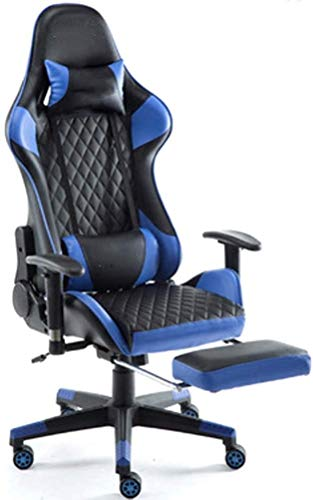 Silla De Escritorio Presidente de juego con el reposapiés, ergonómico for trabajo pesado que compite con silla de respaldo alto PU silla de la computadora de escritorio con soporte lumbar reposacabeza