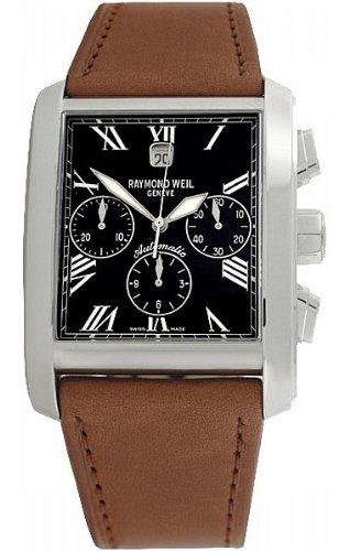 Raymond Weil Herren Analog Automatik Uhr mit Leder Armband 4875-STC-00209