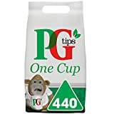 PG tips One Cup Biodegradable Pyramid Everyday Tea Bags Bulk Pack Of 440 Teabags for Catering,...