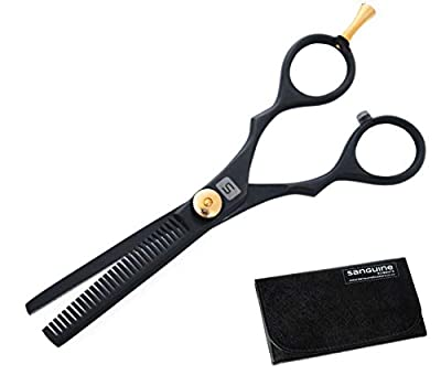 Professional Hairdressing Thinning Scissors 5.5 inch, DEEP Black