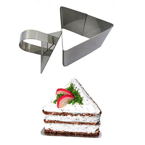 hearsbeauty Portable Pratique En Acier Inoxydable Gâteau Ustensiles De Cuisson Mini Fondant Mousse Moule Cuisine DIY Outil Triangle