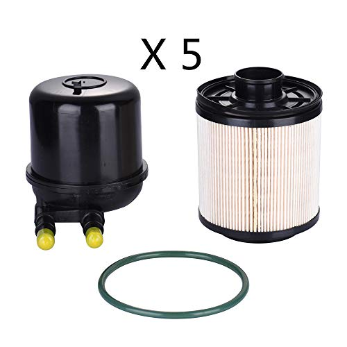 Younar 5PCS FD4615 Fuel Filter for Ford F250 F350 F450 F550 2011-2016 6.7 Liter Powerstroke