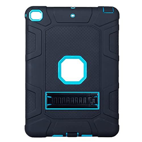 Runtodo Estuche para Tableta Cool Resistente a CaíDas y Rayones con Soporte para Estuche para Tableta de 9.7 Pulgadas, Negro + Azul Tinta