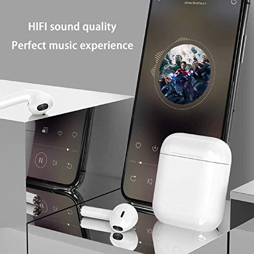 Auriculares Bluetooth,Auriculares inalámbricos Bluetooth In-Ear Mini Auriculares Auriculares,Auriculares estéreo 3D de Alta definición, Auriculares Deportivos y Mini Caja de Carga portátil miniatura