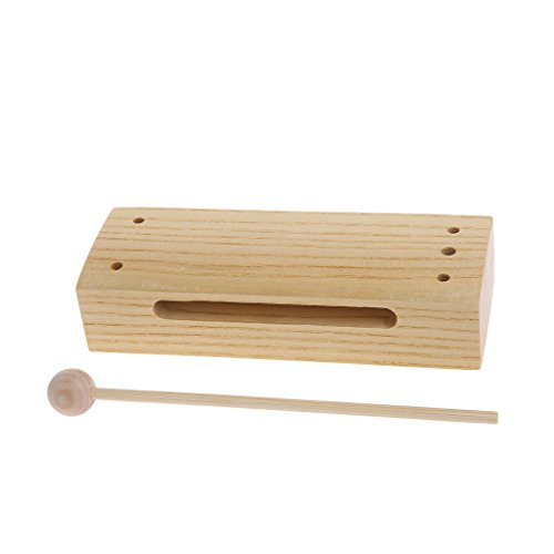 Kocome Percussion Retangular Tone Block with Beater Wooden Musical Toy kid School Gift