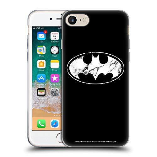 Head Case Designs sous Licence Officielle Batman DC Comics Marbre Logos Coque en Gel Doux Compatible avec Apple iPhone 7 / iPhone 8 / iPhone SE 2020