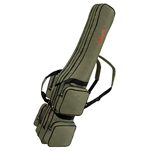 Etase Sac de Rangement de Peche Portable Pliant Carrier en Toile pour Outils Case equipement Canne Tackle Personne Mixte Deux 130cm