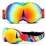 QSCV Gafas de esquí Gafas de Doble Capa Anti-Niebla Cocker Adulto Myopia Snow Goggles Single Board Double Tablero Gafas de esquí for Hombres y Mujeres 0922 (Color : 7)