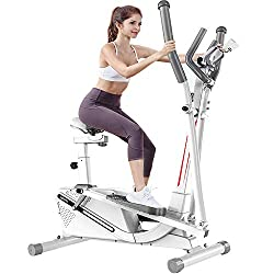 【SMOOTH & QUIET DRIVE】Precision balance 10 LB two way flywheel and V-belt drive, running smoothly and quietly and ensuring a challenging, smooth and quiet elliptical motion to give you a comfortable, fluid workout experience - ideal for those seeking...