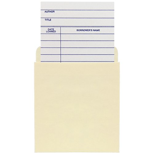 The Library Store Classroom and Library Book Pocket Book Card Combo Pack 500 Each per Package