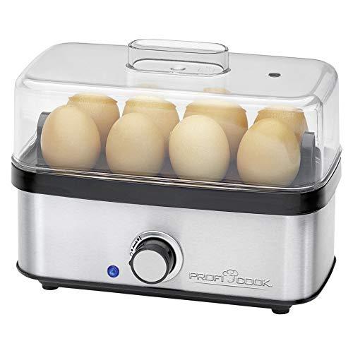 Profi Cook 501139 ProfiCook PC-EK 1139 Eierkocher für bis zu 8 Eier, Omelett-/Pochier-Funktion, Akustisches Endsignal, edelstahl