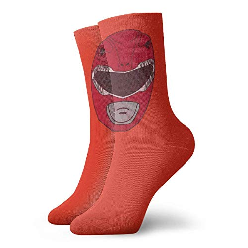 Almost-Okay-Shop Power Rangers - Calzini corti stampati Red Ranger Fashion.