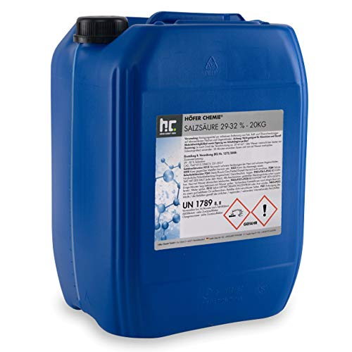 Höfer Chemie 1 x 20 kg Salzsäure 29-32 praktischen Vorratskanister