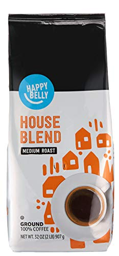 Amazon Brand - Happy Belly House Blend Ground Coffee, Medium Roast, 32 Ounce