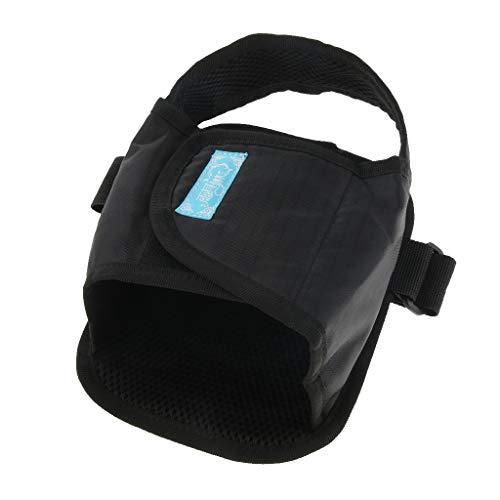 2x Sujeción Pedal Clip Silla de Ruedas Zapatos para Ancianos Seguridad Paciente - Negro
