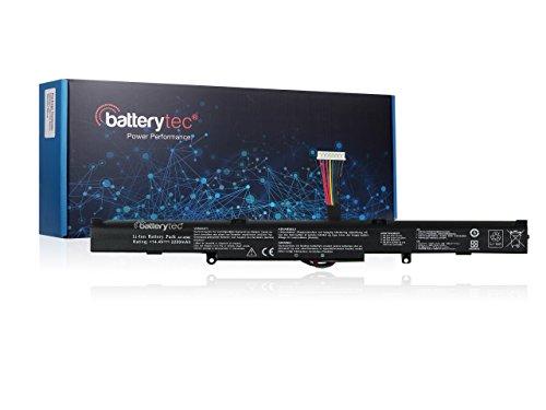 Batterytec®Ersatzbatterie für ASUS Laptop A41-X550E, R751, R752, F751 Serie, ASUS F550 Serie, X751, K751 Serie[14.4V 2200mAh, 12 Monate Gewährleistung]
