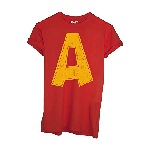 MUSH T-Shirt Alvin Superstar Cartoon - Cartoon by Dress Your Style - Bambino-L-Rossa